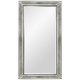 Hollywood Glam Silver Leaf 36 inch x 48 inch Beaded Wall Mirror