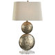 Uttermost Ordona Antiqued Metallic Silver Leaf Table Lamp