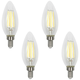 60W Equivalent Torpedo 6W LED Filament Candelabra 4-Pack