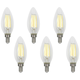 60W Equivalent Torpedo 6W LED Filament Candelabra 6-Pack