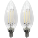40W Equivalent Clear 4W LED Candelabra LED Bulb 2-Pack