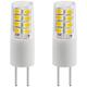 35 Watt Equivalent Tesler 3 Watt LED Dimmable G4 Bulb 2-Pack