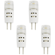 20W Equivalent Clear 1.5W LED Dimmable G4 Bi-Pin 4-Pack