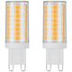 40W Equivalent Tesler 4 Watt LED Dimmable G9 Bulb 2-Pack