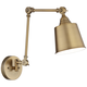 Mendes Antique Brass Down-Light Hardwire Wall Lamp