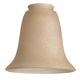 2 1/4 inch Fitter Set of 4 Bronze Scavo Bell Glass Shades