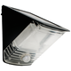 Black Wedge Solar Powered LED Security Light