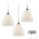 Possini Euro Opal Glass Brushed Nickel 3-Light Pendant