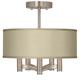 Sesame Textured Faux Silk Ava 5-Light Nickel Ceiling Light