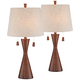 Omar Warm Brown Hourglass Table Lamp Set of 2