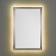 Possini Euro Metzeo Brushed Nickel 22 inch x 33 inch LED Wall Mirror