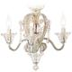 Crystal Bead Antique-White Candelabra Ceiling Fan Light Kit