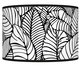 Tropical Leaves Giclee Shade 12x12x8.5 (Spider)
