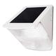 White Wedge Solar Powered LED Security Light