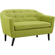Wit Wheatgrass Fabric Tufted Loveseat