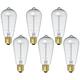 Tesler 60W Standard Nostalgic Edison Style Light Bulb 6-Pack