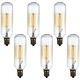 6-Pack 60 Watt T8 Edison Style Candelabra Tube Light Bulbs