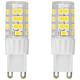 50W Equivalent Tesler 5W LED Dimmable G9 Base Bulb 2-Pack