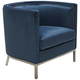 Wales Ink Blue Barrel Accent Armchair