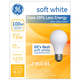 GE 72 Watt 2-Pack Frosted Halogen Light Bulbs