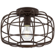 Epstein 12 inch Wide Oil-Rubbed Bronze Caged Ceiling Light