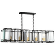Dagny 40 inch Wide Black and Gold 5-Light LED Island Pendant