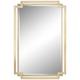 Carpathia 30 1/2 inch x 45 1/4 inch Gold Wall Mirror