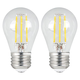 40W Equivalent 5W Filament LED Dimmable Standard A15 2-Pack