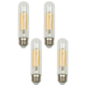 60W Equivalent Clear 6 Watt LED Dimmable Standard T10 4-Pack