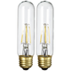 40W Equivalent Clear 4.5W LED Dimmable Standard T10 2-Pack