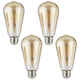60W Equivalent Amber 7W LED Dimmable Standard Edison 4-Pack