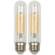 60W Equivalent Clear 6 Watt LED Dimmable Standard T10 2-Pack