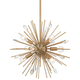 Possini Euro Janae 18 inch Wide Antique Gold Sputnik Pendant Light