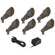 Bronze Spotlight 8-Piece Outdoor LED Landscape Lighting Set
