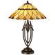 Robert Louis Tiffany Shiloh Scallop Art Glass Table Lamp