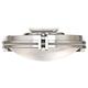 Marbleized Glass Brushed Nickel LED Ceiling Fan Light Kit