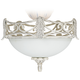 LED Acanthus Leaf Etched Glass Ceiling Fan Light Kit