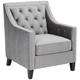 Tiffany Gray Tufted Armchair