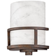 Quoizel Kyle 11 inch High Brown Iron Gate and White Onyx Wall Sconce