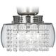 Crystal Rainfall Strands Clear Glass LED Light Kit