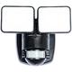 Black 1250 Lumen Motion-Activated LED Security Light