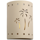 Mirage Flats 13 inch High Cottonwood Ceramic Outdoor Wall Light