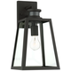 Arrington 14 3/4 inch H Black Motion Sensor Outdoor Wall Light