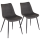 Durango Gray Faux Leather Dining Chairs Set of 2