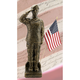 Henri Studio Camo Woman 30 inch High Bronze Outdoor Statue with Flag