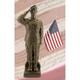 Camo Woman - African American 30 inch High Bronze Outdoor Statue