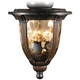 Bronze Ceiling Fan Light Kit With Amber Hammered Glass