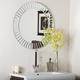 The Glow 27 1/2 inch Round Frameless Wall Mirror