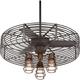32 inch Vintage Breeze DC Bronze Cage 3-Light LED Cage Ceiling Fan