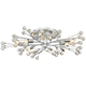 Possini Euro Crystal Berry Chrome 10-Light LED Ceiling Light